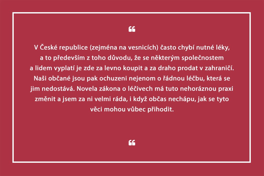 V Česku chybí léky, zbytečně se vyváží. Změnit to má novela zákona o léčivech