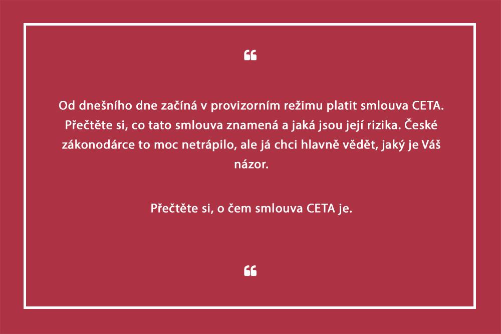 Co je smlouva CETA?