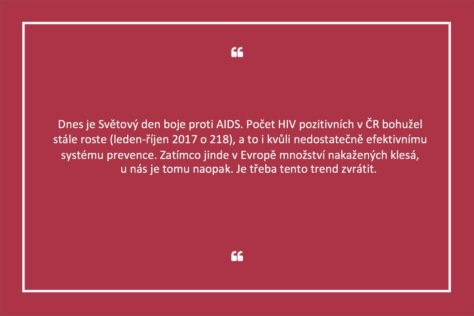 Počet nakažených virem HIV v Česku roste. Lék přitom existuje, stojí ale tisíce korun měsíčně